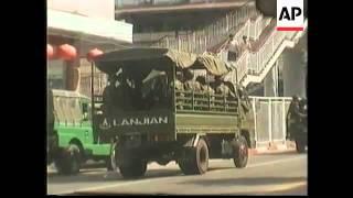 BURMA: RANGOON: MILITARY CONTINUE TO CONTROL STREETS