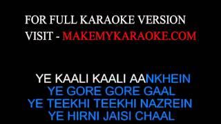 Karaoke:  Yeh Kaali Kaali Aankhein - Baazigar