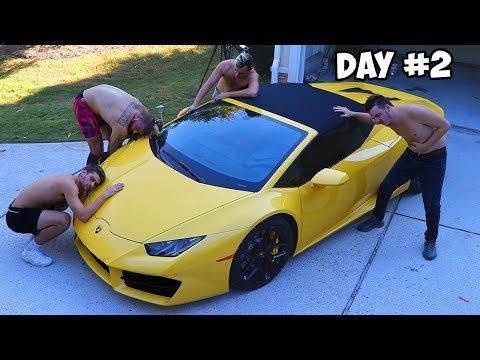 Last To Remove Hand Gets Lamborghini Challenge