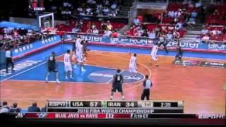 USA vs Iran FIBA world championship 2010