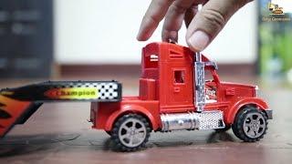รถพ่วง รถบรรทุกเทเลอร์ รถของเล่นขนส่ง  Cars Transportation by Truck Video for Kids