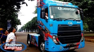 Woman Driving UD Trucks Quester GKE280 (Head Tractor Unit)