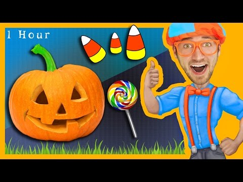 1 Hour of Nursery Rhymes Compilation with Blippi | Halloween Songs for Kids and More