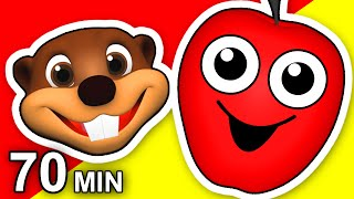 """""""The Apple is Red"""" Plus More   70 Minute Compilation   3D Animation   Baby Learn Colors & More"""