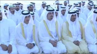 Emir Qatar Tamim bin Hamad Al Thani Melaksanakan Sholat Iedul Adha Pagi Tadi Bersama Ayahnya