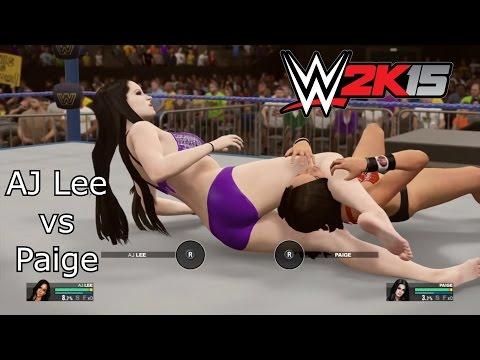 Xxx Mp4 Request AJ Lee Vs Paige Sexy WWE2K15 Bikini Barefoot Match 3gp Sex