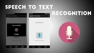 Speech To Text App TUTORIAL (using in-built feature)  |  Android tutorials