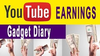Gadget Diary youtube earnings Jan 2017(my personal estimation)