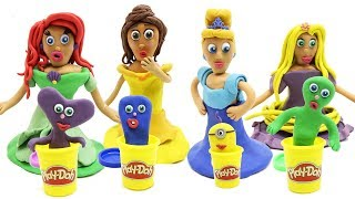 Learn Colors With Play Doh Dresses Disney Princess Play Doh Stop Motion Animation