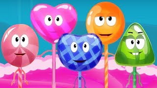 Five Little Lollipops | Nursery Rhymes | Compilation Video For Kids