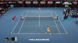رافاييل نادال ضد ماثيو ابدن الدور الثاني بطولة استراليا المفتوحة للتنس 2019