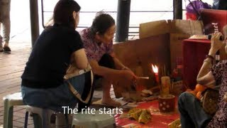 Traditional Magic Rituals in the Streets of Hong Kong. Witchcraft