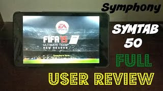 Symphony SYMTAB 50 Full User Review Bangla