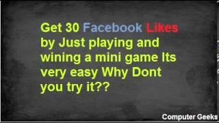 Get 30 facebook likes by playing a mini game