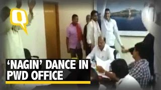 The Quint:'Nagin' Dance in PWD Office: This Happens Only In India