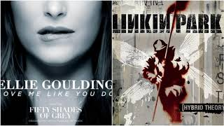Push Me Like You Do - Ellie Goulding vs Linkin Park (Mashup)