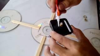 Reloj de pared, reciclando cd