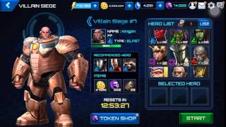 Marvel Future Fight Gameplay - Clear new Secret Wars Villain Siege with 18 units & in 12 minutes