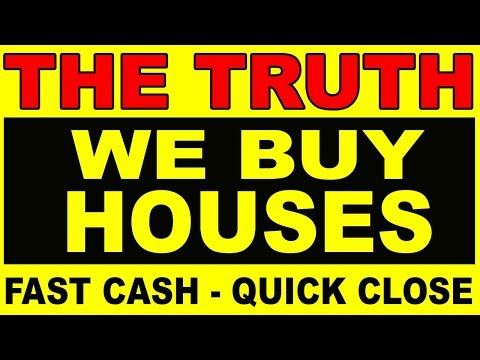 """Ever wondered about those """"We Buy Houses Fast Cash """" signs"""