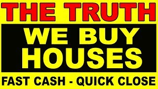 """Ever wondered about those """"We Buy Houses - Fast Cash!"""" signs?"""