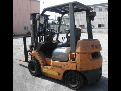 Used Forklift working on mobile Ramp for sale in India second hand old Forklifts, by Tech Mech