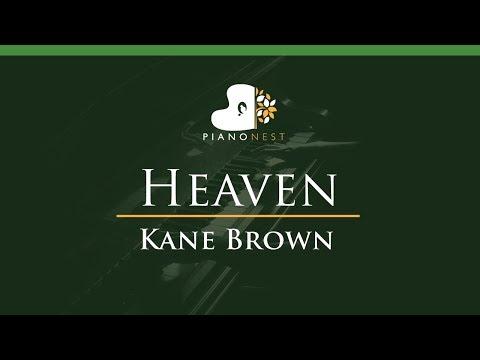 Kane Brown - Heaven - LOWER Key (Piano Karaoke  Sing Along)