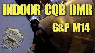 DesertFox Airsoft: G&P M14 Indoor CQB DMR with Spartan Leah and Airsoft Obsessed Dave