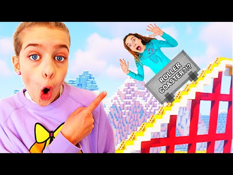 WHO BUILDS BEST ROLLERCOASTER in Minecraft Gaming w The Norris Nuts