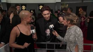 Lay Zhang Red Carpet Interview | 2019 GRAMMYs