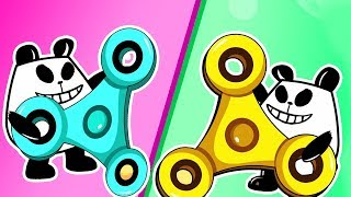 Panda A Panda Fidget Spinner   Panda Kids Cartoon   Videos For Kids   Funny Panda Episodes