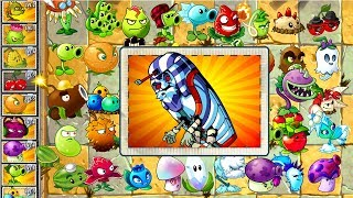 Every Plant Power-Up! Plants vs Zombies 2 vs Pharaoh Zombie PVZ (Plantas Contra Zombies 2)