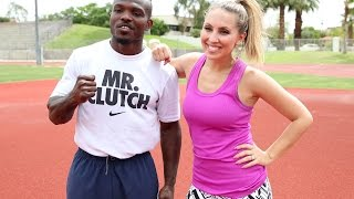 Timothy Bradley Jr. Track Workout with Crystina Poncher