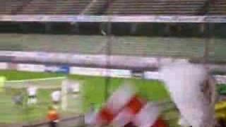 Bel calcio d'angolo del Monza