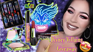 Disney Villains Makeup Giveaway! Colourpop X Disney Villains,  ABH & More #makeupgiveaway