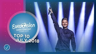 TOP 10: Most watched in July 2018 - Eurovision Song Contest