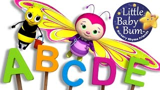 ABC Song | Butterfly | Nursery Rhymes | Original Song By LittleBabyBum!