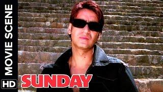 Ajay saves the day | Ajay Devgn, Irrfan Khan, Arshad Warsi | Sunday | Movie Scene | Comedy