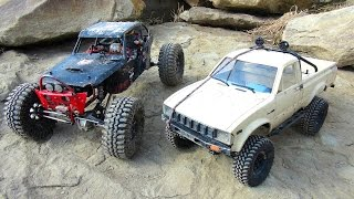 RC ADVENTURES - Black Widow & Trail Finder 2 hit the Rock Pile!