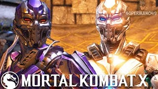 """Cyber Sub-Zero And Smoke Are Awesome! - Mortal Kombat X """"Triborg"""" Gameplay (Playing With Subs)"""