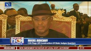 Rivers Judiciary: CJN Flags Off Construction Of State Judges Quarters