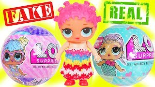 LOL Surprise Dolls Custom Lil Sisters open FAKE Balls at Barbie Car Drive Thru - Toy Wave 2 Video