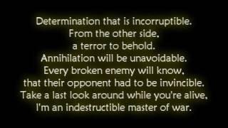 Disturbed - Indestructible [Lyrics]