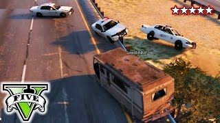 GTA 5 Funny Moments Police Chases and Shootouts | Grand Theft Auto 5 Online