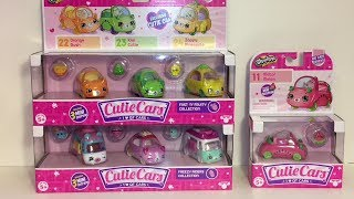 Cutie Cars Unboxing Freezy Racers Fast N' Fruity & Motor Melon Shopkins Diecast Toys Opening