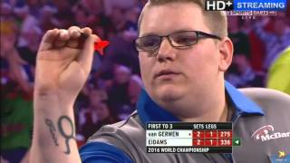 ALMOST THE BIGGEST SHOCK IN WORLD DARTS HISTORY - Michael van Gerwen vs Rene Eidams - First Round