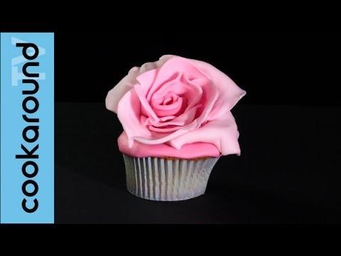 Come realizzare una rosa con la pasta di zucchero Tutorial