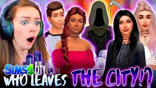 😱WHO LEAVES!? 💀 PLUS OUR FIRST DEATH!!! 😭 (The Sims 4 IN THE CITY #21! 💒)