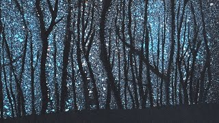 How to Paint a Starry Night in the Woods - Stars - Very Easy