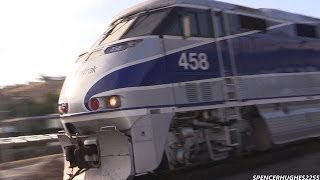 Amtrak Trains in South Orange County, CA (Spring 2014)