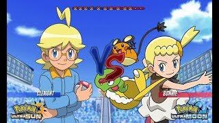 Pokemon Battle USUM: Clemont Vs Bonnie (Pokémon Sibling Face Off!)